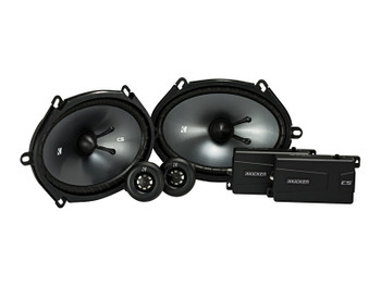 Kicker CSS68 6x8-INCH (160x200mm) COMPONENT SYSTEM WITH .75-INCH (20mm) TWEETER, Bundle