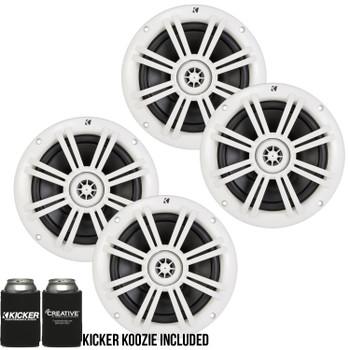 Kicker 6.5 Inch KM-Series Marine Speakers 41KM604W bundle