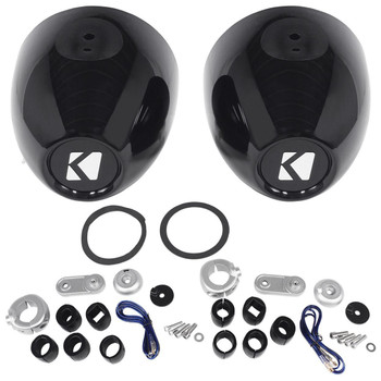 "Kicker Black Mini Wake Tower  Enclosures loaded with Kicker 4"" DSC Speakers"