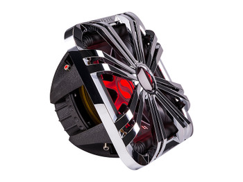 """Kicker 44L7S122 L7S 12"""" Dual 2-Ohm Subwoofer & LED Chrome Grill"""