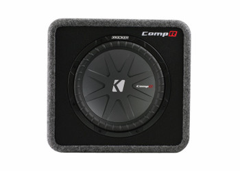 Kicker CompR 12 ported enclosure + 500 Watt Kicker DX Amp bundle