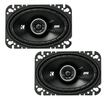 Kicker DSC460 4x6-Inch (100x160mm) Coaxial Speakers, 4-Ohm bundle
