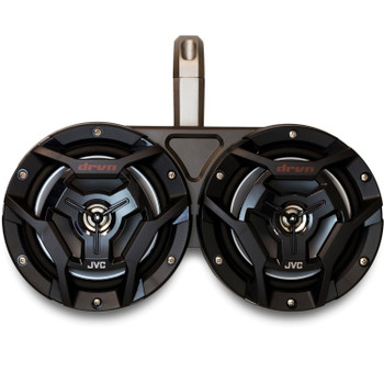 """Kicker Marine KMTED Black Tower Enclosures Compatible With (4) 6.5"""" Black JVC Marine Coaxial Speakers."""