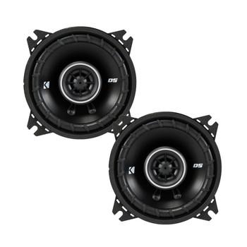 Kicker DSC40 4-Inch (100mm) Coaxial Speakers, 4-Ohm bundle