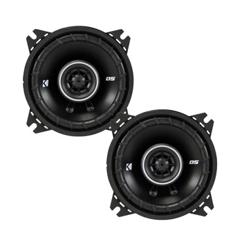 Kicker DSC40 4-Inch (100mm) Coaxial Speakers, 4-Ohm bundle