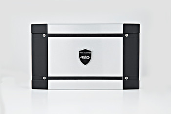 """Kicker marine 8"""" LED Tower System - White Enclosures, Silver Speakers, Wet Sounds HT-4 Amplifier"""