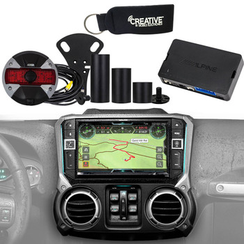 """Alpine Restyle - X209-WRA-OR Off Road Edition 9"""" Radio, HCE-TCAM1-WRA Spare Tire Camera & KAC-001 Accessory Controller"""