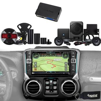 """Alpine X209-WRA-OR Off Road 9"""" GPS, Radio, HCE-TCAM1-WRA Camera & PSS-21WRA Sound System For Jeep Wrangler 2015-2018"""