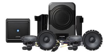 Alpine X209-WRA-OR Restyle Unit w/ HCE-TCAM1-WRA Camera & PSS-21WRA Sound Upgrade For Jeep Wrangler Unlimited 2015-2018