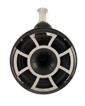 Wet Sounds Black REV 10 Fixed Clamp Tower Speakers with Wet Sounds SD2 1250 Watt Amplifier & Suitz Speaker Covers