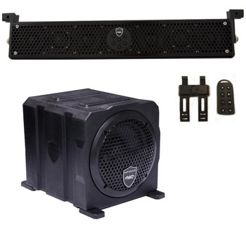 "Wet Sounds Package - Black Stealth 6 Ultra HD Sound Bar w/ Remote and AS-6 6"" 250 Watt Powered Stealth Subwoofer"