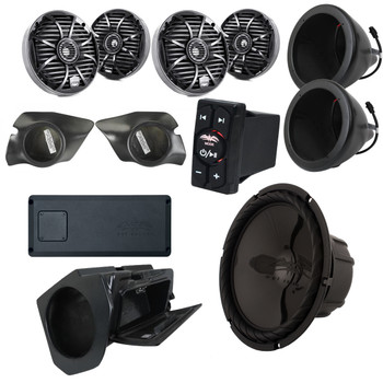 Wet Sounds & SSV Works For Polaris RZR 2015+ 5-Speaker System Package.