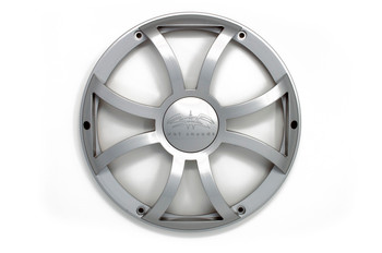 """Two Wet Sounds Revo 12"""" Subwoofers & Grills - Black Subwoofers & Silver XS Grills - 2 Ohm"""
