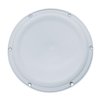 """Wet Sounds Revo 12"""" Subwoofer, Grill, & RGB LED Ring - White Subwoofer & Gunmetal  Steel Grill - 4 Ohm"""