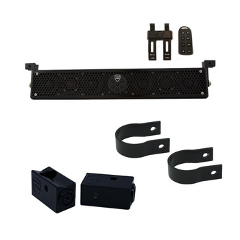 "Wet Sounds Stealth 6 Ultra HD Black + UTV Mounting Kit, Slider bracket and Round 1.75"" Tube clamp"