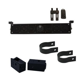 "Wet Sounds Stealth 6 Ultra HD Black + UTV Mounting Kit, Slider bracket and Round 1.75"" Tube clamp"