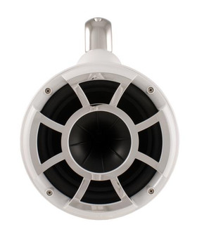 "Wet Sounds for Mastercraft 2007 & Up - REV10 10"" White Swivel Tower Speakers & Mastercraft Tower Adapters & HTX4 Amp"