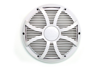 "Two Wet Sounds Revo 12"" Subwoofers & Grills - White Subwoofers & White Closed Face SW Grills - 4 Ohm"