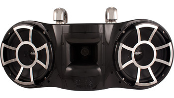 Wet Sounds REV 410 Swivel Clamp Tower Speaker with Wet Sounds Suitz speaker Covers - BLACK