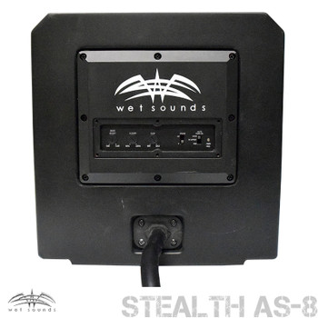 """Wet Sounds Package - Black Stealth 10 Ultra HD Sound Bar w/ Remote and AS-8 8"""" 350 Watt Powered Stealth Subwoofer"""