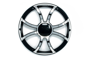 """Two Wet Sounds Revo 12"""" Subwoofers & Grills - Black Subwoofers & Black Grills With Stainless Steel Inserts - 2 Ohm"""