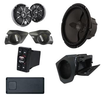 Wet Sounds & SSV Works For Polaris RZR 2015+ 3-Speaker System Package.