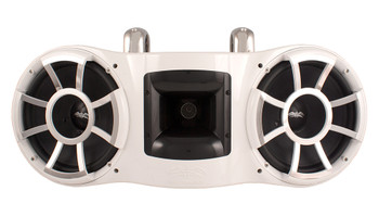 Wet Sounds REV 410 Fixed Clamp Tower Speaker with Wet Sounds Suitz speaker Covers - WHITE