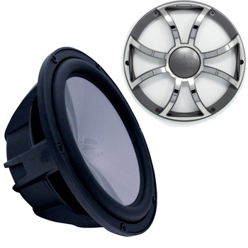 """Wet Sounds Revo 12"""" Subwoofer & Grill - Black Subwoofer & Gunmetal Stainless Steel Grill - 4 Ohm"""