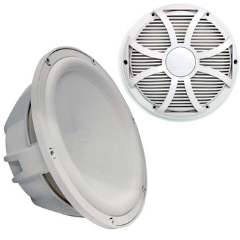 """Wet Sounds Revo 12"""" Subwoofer & Grill - White Subwoofer & White Closed Face SW Grill - 4 Ohm"""