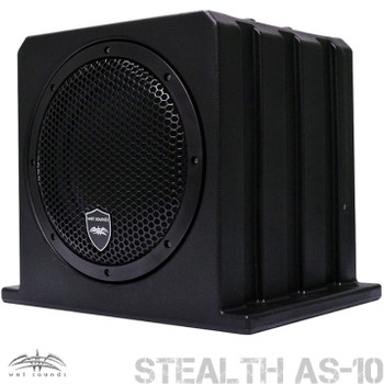 """Wet Sounds Package - White Stealth 10 Ultra HD Sound Bar w/ Remote and AS-10 10"""" 500 Watt Powered Stealth Subwoofer"""