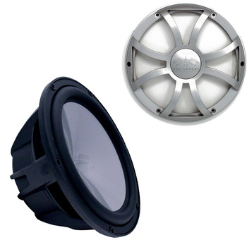"""Wet Sounds REVO10HPS4-B Revo High Power 10"""" Subwoofer with Grill - Black Subwoofer & Silver XS Grill"""