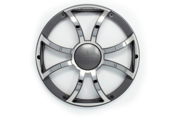 """Two Wet Sounds Revo 12"""" Subwoofers & Grills - Black Subwoofers & Gunmetal Stainless Steel Grills - 2 Ohm"""