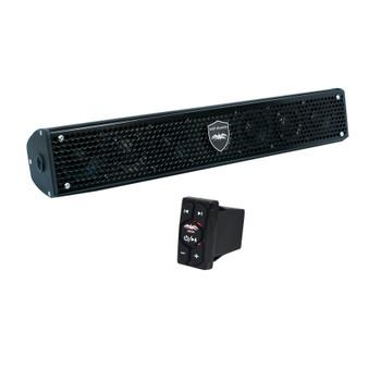 Wet Sounds Stealth 6 Surge Amplified Powersport Soundbar with WW-BTRS Bluetooth Rocker Switch Controller Receiver