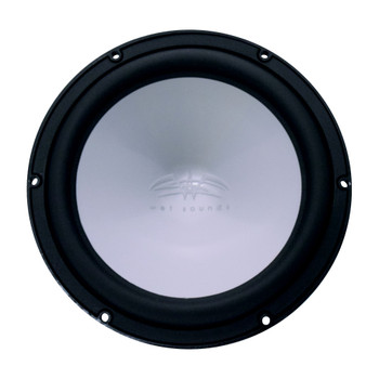 "Wet Sounds Revo 12"" Subwoofer, Grill, & RGB LED Ring - Black Subwoofer & Silver XS Grill - 4 Ohm"
