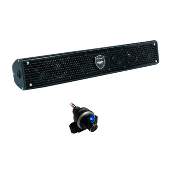 Wet Sounds Stealth 6 Surge Amplified Powersport Soundbar with WW-BTVC Bluetooth Dash Mount Controller Knob