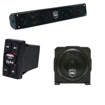 "Wet Sounds Stealth 6 Surge Sound Bar w/ WW-BTRS Bluetooth Rocker Switch and AS-6 6"" 250 Watt Powered Stealth Subwoofer"