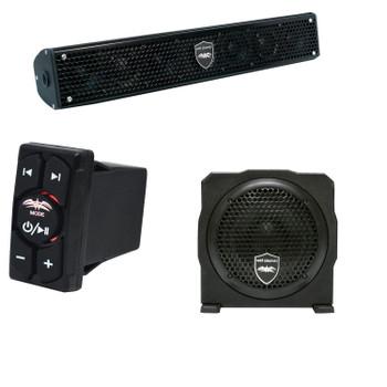 "Wet Sounds Stealth 6 Surge Sound Bar w/ WW-BTRS Bluetooth Rocker Switch and AS-6 6"" 250 Watt Powered Stealth Subwoofer"