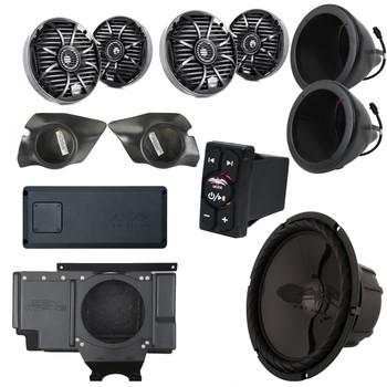 Wet Sounds & SSV Works For Polaris RZR 2014+ XP1000 5-Speaker System Package. Subwoofer Will Not Fit Turbo Models.