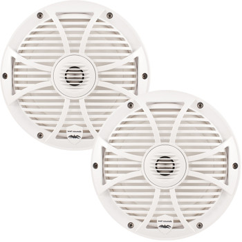 """Wet Sounds Bundle SW-808 Series White Grill 8"""" Speakers with RGB LED Speaker Rings. 150 Watts RMS Each"""