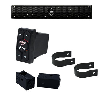 "Wet Sounds - Stealth 6 Surge Amplified Soundbar with 1.75"" Pipe Mounting Hardware & WW-BTRS Bluetooth Receiver"
