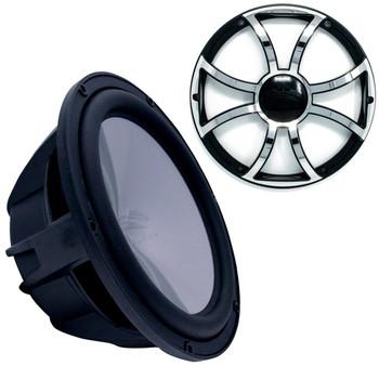 """Wet Sounds REVO12HPS4-B Revo High Power 12"""" Subwoofer with Grill - Black Subwoofer & Black Grill With Steel Inserts"""