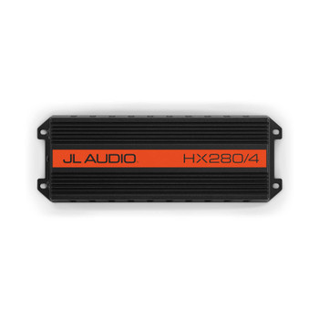"""JL Audio HX280/4 Amp and MBT-CRX Bluetooth Receiver with Pair of Kicker KMTES pods and OEM 6.5"""" Kicker Marine Speakers"""