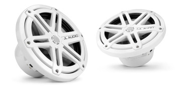 JL Audio MX770-CCX-SG-WH:7.7-inch (196 mm) Cockpit Coaxial System White Sport Grilles With RGB LED Rings