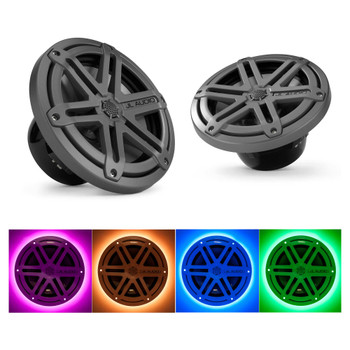 JL Audio MX770-CCX-SG-TB:7.7-inch (196 mm) Cockpit Coaxial System Titanium Sport Grilles With RGB LED Rings
