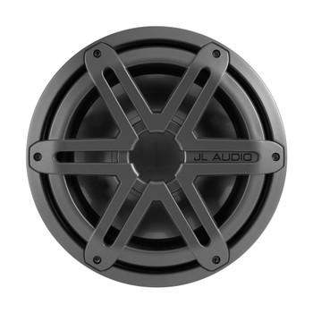 JL Audio MX10IB3-SG-TB10-inch Marine Subwoofer Driver Titanium Sport Grille 4 With RGB LED Speaker Ring