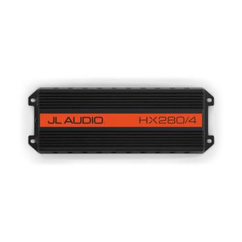 "JL Audio HX280/4 Powersports Amp with Kicker Pair of KMTES speaker enclosures and LED OEM 6.5"" Kicker Marine Speakers"