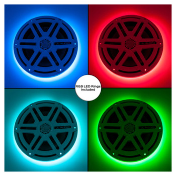 JL Audio M880-CCX-CG-WH:8.8-inch (224 mm) Cockpit Coaxial System White Classic Grilles with RGB LED Rings