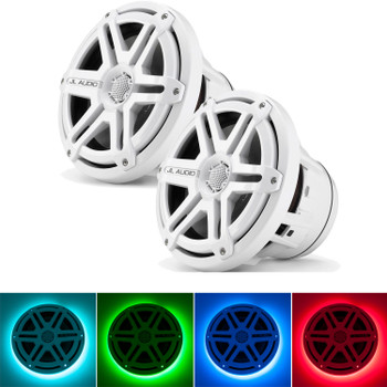 JL Audio M880-CCX-SG-WH:8.8-inch (224 mm) Cockpit Coaxial System White Sport Grilles with RGB LED Rings