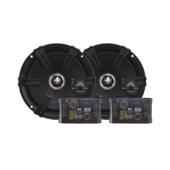"""JL Audio JX400/4D Amplifier with Two Pair of MB Quart ZC1-216 6.5"""" Component Speakers and Amp Kit"""