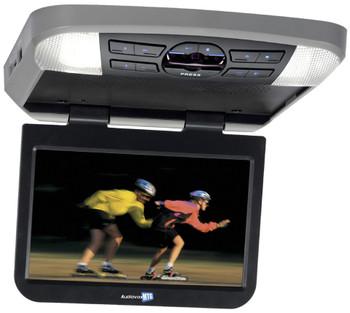 "Audiovox AVXMTG10UHD 10"" LED Overhead monitor w/ 2 wireless IR Headphones"